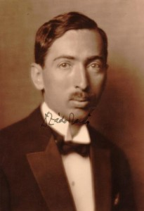 "The earliest available photo of Zádor, signed ""Zádor Jenö,"" his Hungarian name, c. 1920."